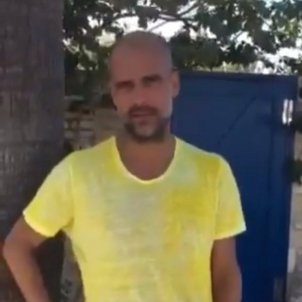 Pep Guardiola groc Captura pantalla