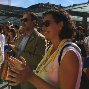 Diada 2018 Berna 3 Marta Rovira i delegat Generalitat a Ginebra (Monika Diethelm)
