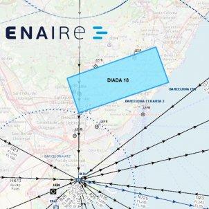 Reserva ENAIRE mapa espai aeri BCN Diada2018