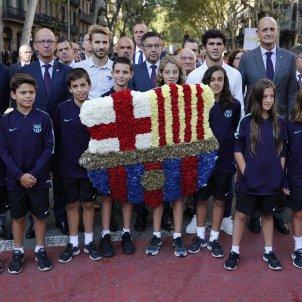 Barça ofrena Rafael Casanova Diada 2018 Sergi Alcàzar