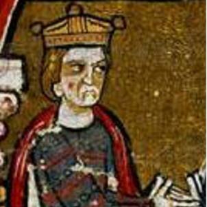Mor Pere I, l'últim sobirà català d'Occitània. Representació coetània de Pere I. Font Wikipèdia