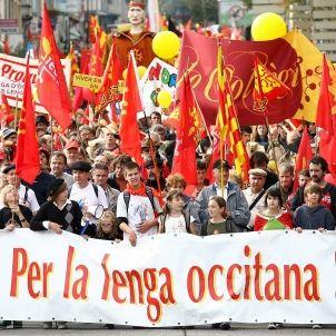 Manifestació occitanista a Carcassona / Efe
