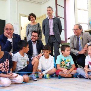 torra, aragonès i Bargalló visiten Escola Francesc Macià