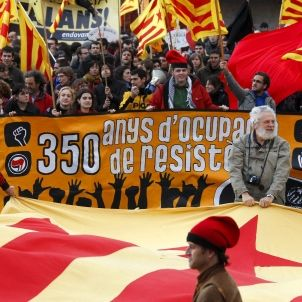 Manifestació catalanista a Perpinyà / Efe