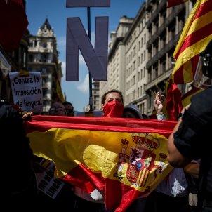 manifestacio espanyolista unionista bandera espanyola via laietana (bona qualitat) - Carles Palacio