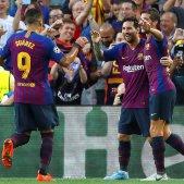 Messi Suarez Roberto Barça PSV Champions EFE