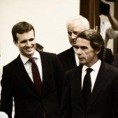 Pablo Casado i José Maria Aznar al Congrés 20180918