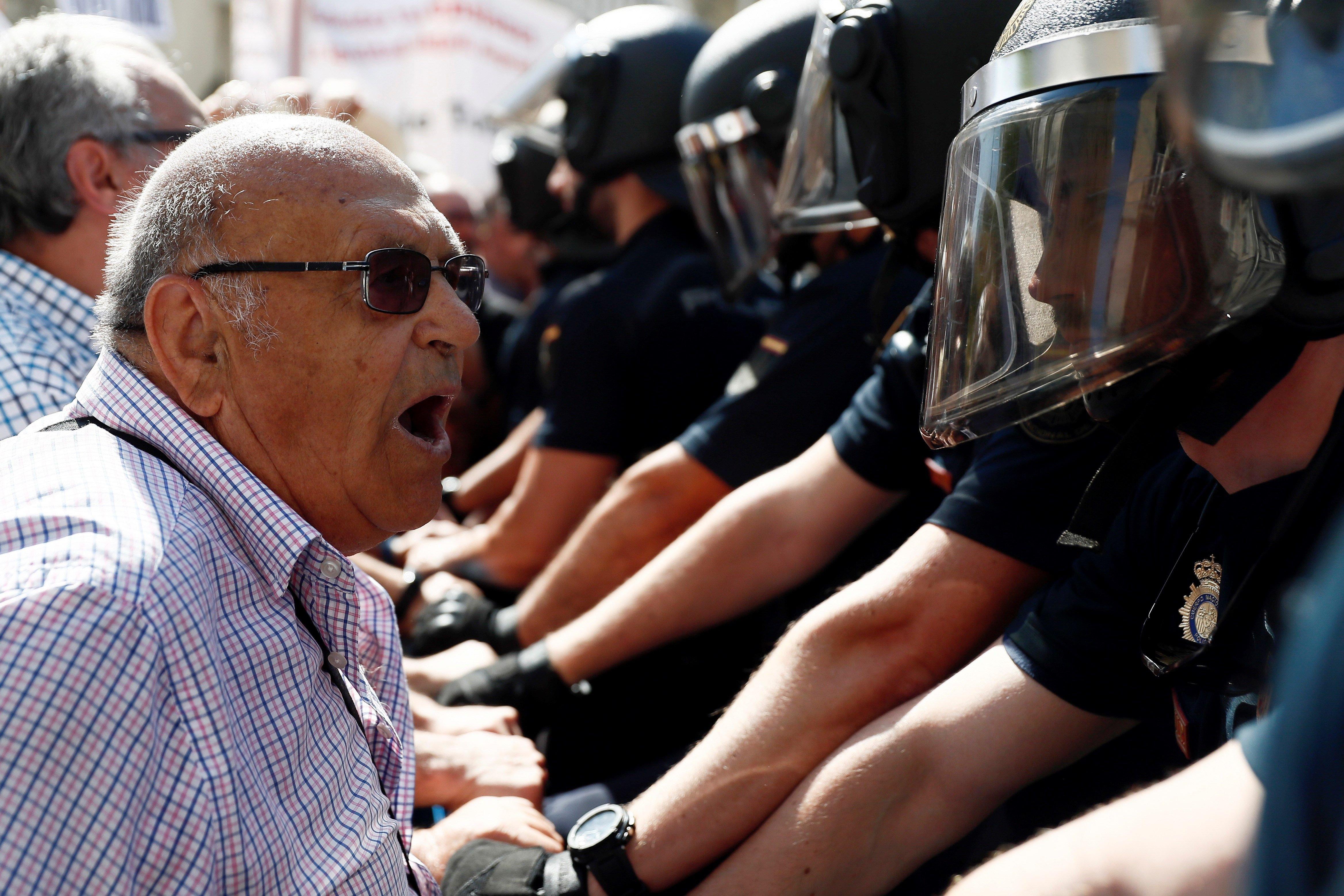 manifestació pensionistes congrés Efe