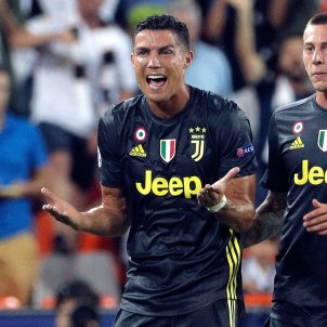 Cristiano Ronaldo València Juventus Champions plorant EFE
