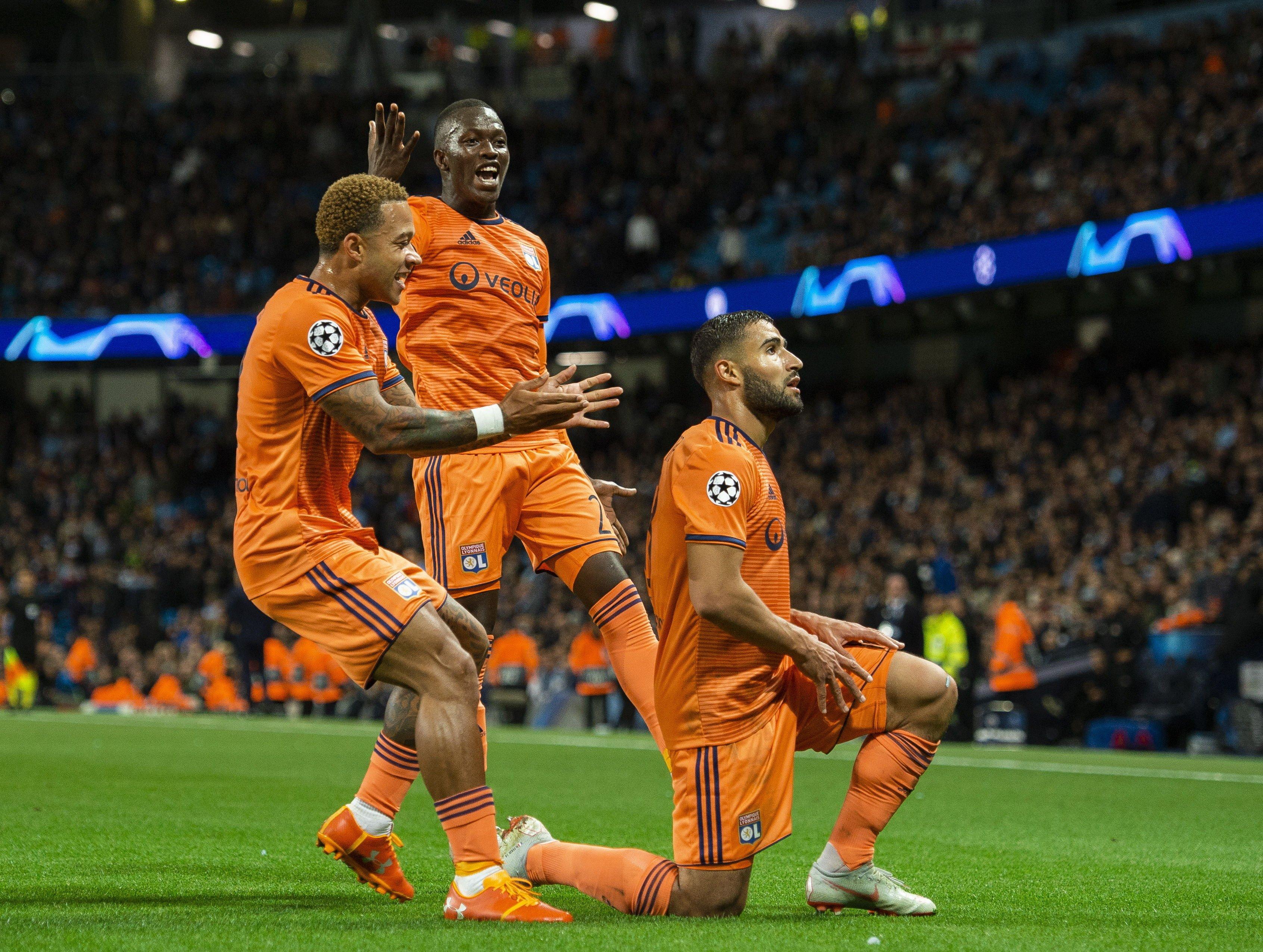 Manchester City Olympique Lió Champions EFE