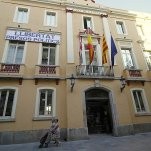 Pancarta presos Ajuntament de Blanes - ACN