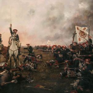 Representació parcial d'una batalla de la Primera Guerra Carlina. Obra d'August Ferrer Dalmau. Font Viquipèdia