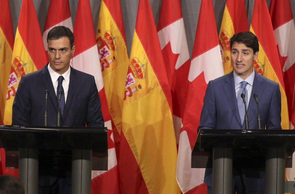 Pedro Sánchez Justin Trudeau EFE