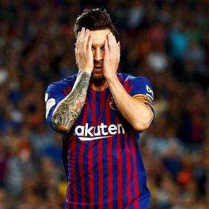 Messi trist Barça Girona EFE