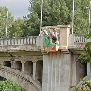 símbols franquistes pont de l'Aigua Girona