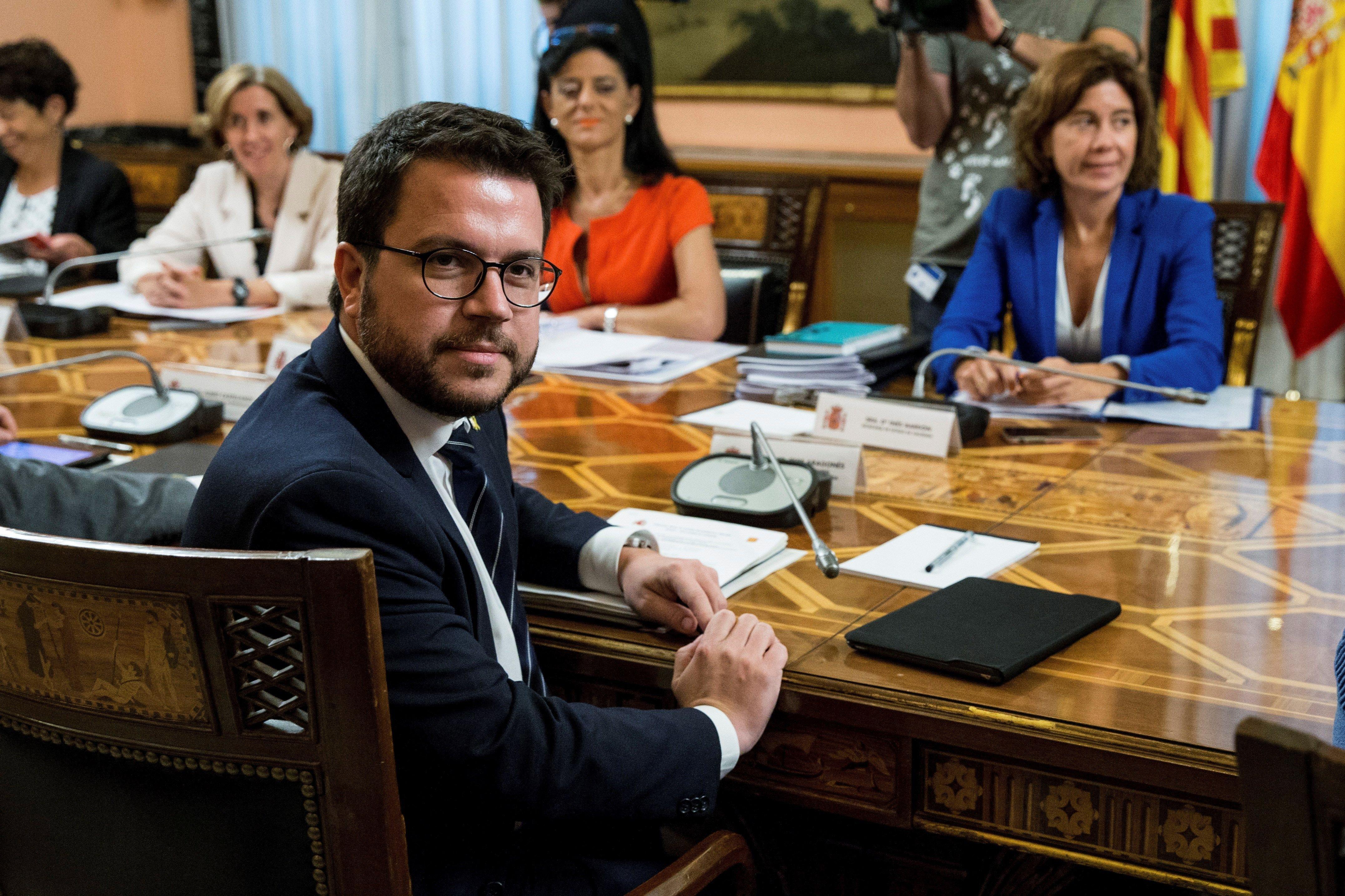 Aragonès Comissió Mixta Estat-Generalitat d'Afers Econòmics i Fiscals -Efe