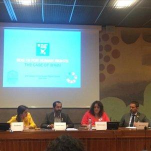 Imatge del debat organitzat per UNESCO Catalunya òmnium
