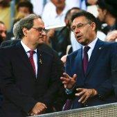 Josep Maria Bartomeu Quim Torra Camp Nou   EFE