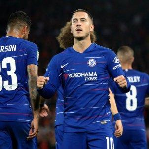 Hazard gol Liverpool   Chelsea FC