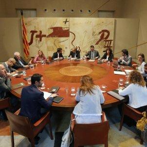 El president del Govern, Quim Torra, encapçala la reunió setmanal del Consell Executiu al Palau de la Generalitat ACN