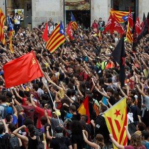 Manifestació estudiants Universitaris per la República 1-O - Efe