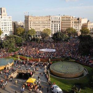 ELNACIONAL Manifestació un any 1-O plaça Catalunya Sergi Alcàzar