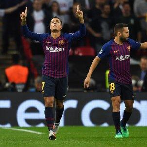 Gol Coutinho Barça Tottenham Champions   EFE