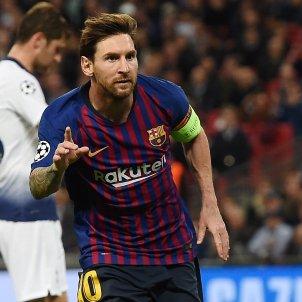Leo Messi Tottenham Barça Champions EFE