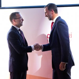 James Costos (exambaixador EUA) i Felip VI (INcube) 2015