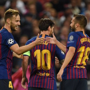 Rakitic Jordi Alba Messi Barça Tottenham gol   EFE
