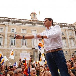 Manifestacio unionista Sant Jaume Albert Rivera - Sergi Alcàzar