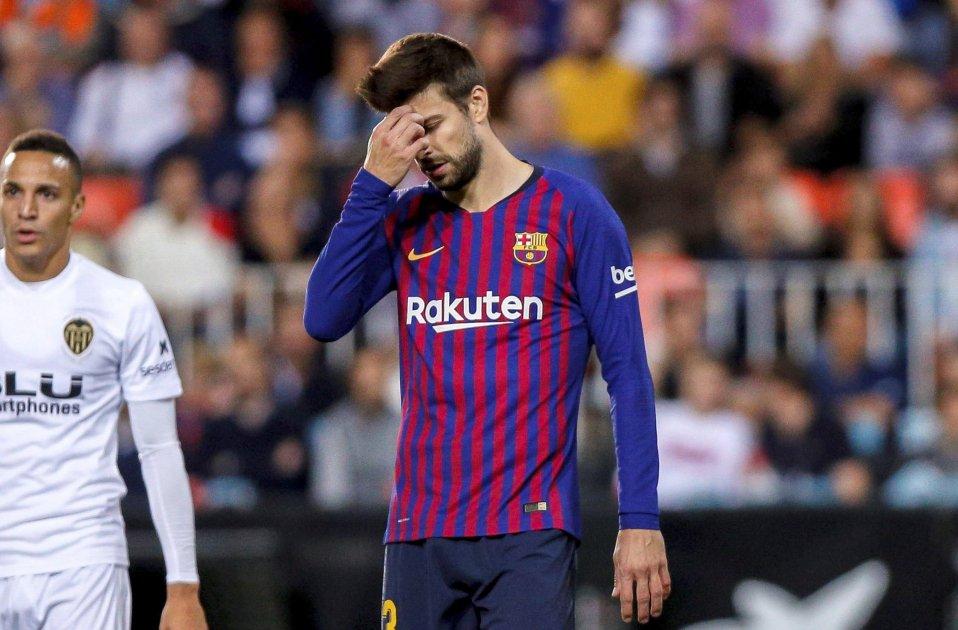 Gerard Piqué València Barça EFE