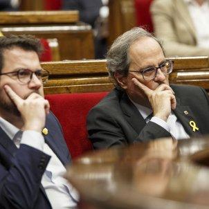 Ple Parlament perdua majoria diputats suspesos Torra Aragonès - Sergi Alcazar