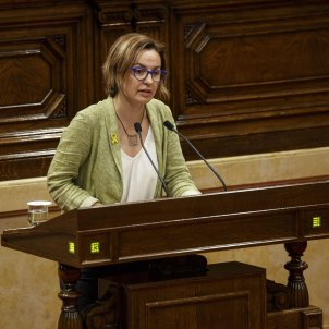 Ple Parlament perdua majoria diputats suspesos Anna Caula - Sergi Alcazar