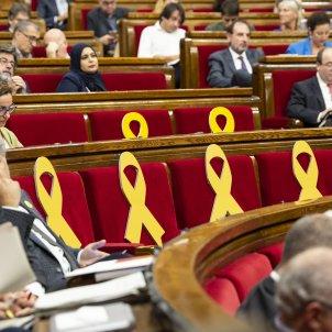 Ple Parlament perdua majoria diputats suspesos llaços grocs  - Sergi Alcazar
