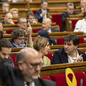 Ple Parlament perdua majoria diputats suspesos ERC sabria Pujol JxCat votacions - Sergi Alcàzar