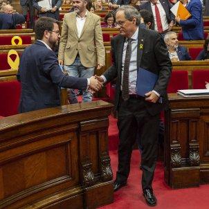 Ple Parlament perdua majoria diputats suspesos Torra Aragonès - Sergi Alcàzar