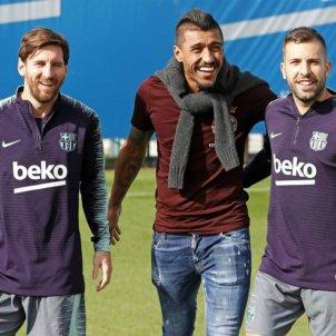 Paulinho entrenament Messi Jordi Alba   Barça