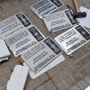 plaques franquistes salt 12 octubre @cdrsalt