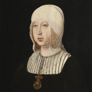 Retrat coetani d'Isabel la Católica obra de Juan de Flandes (1500). Font Palacio Real de Madrid