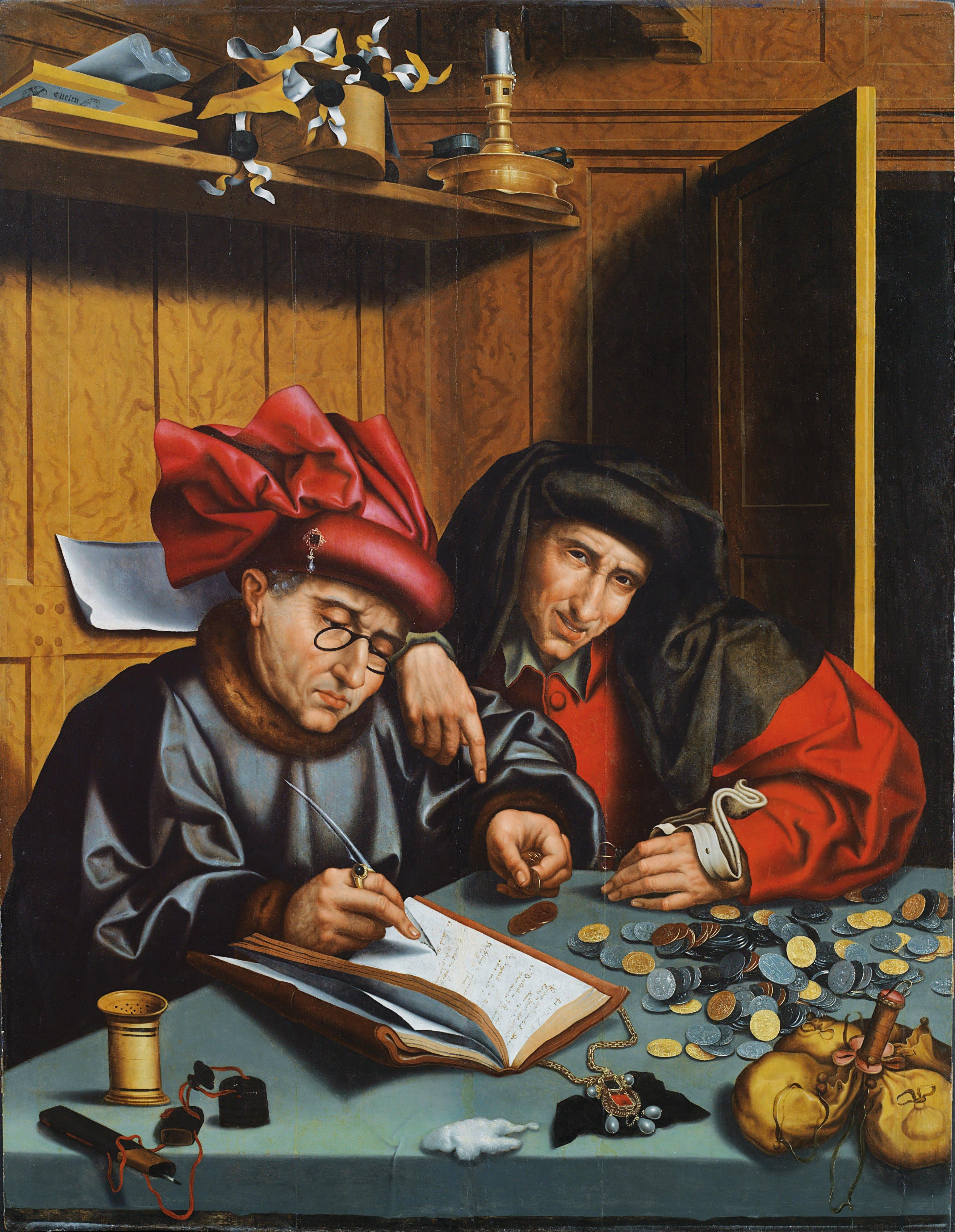Els canvistes (escola de Marinus van Reymerswaele, ca 1548)