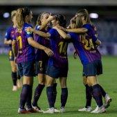 Barça femeni celebració gol   FCB Femeni