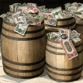 Barrels of Money (Victor Dubreuil, 1890)