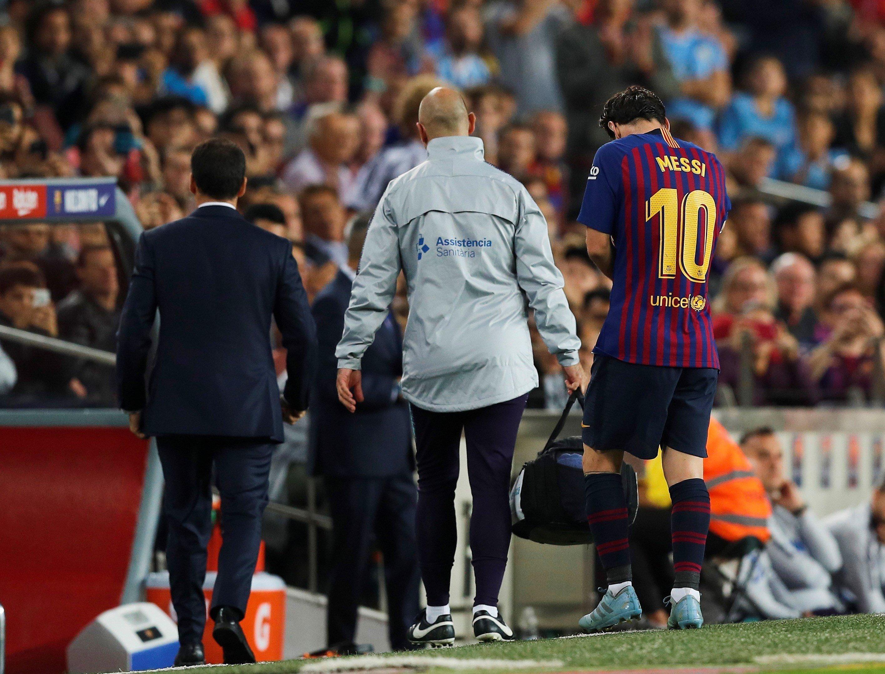 Leo Messi lesió Barça Sevilla   EFE