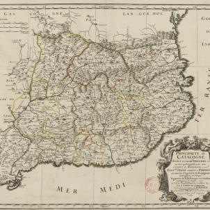 La monarquia francesa nomena el seu primer virrei a Catalunya. Mapa francès de Catalunya (1659). Font Bibliothèque Nationale de France