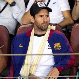 Leo Messi graderia Barça Inter Champions   EFE