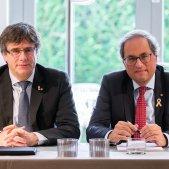 Torra i Puigdemont faran la seva conferència en un hotel pel veto de Tajani