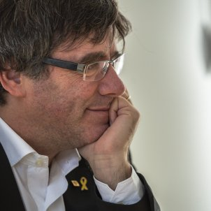 Carles Puigdemont a la Casa de la Republica a Waterloo - Sergi Alcàzar