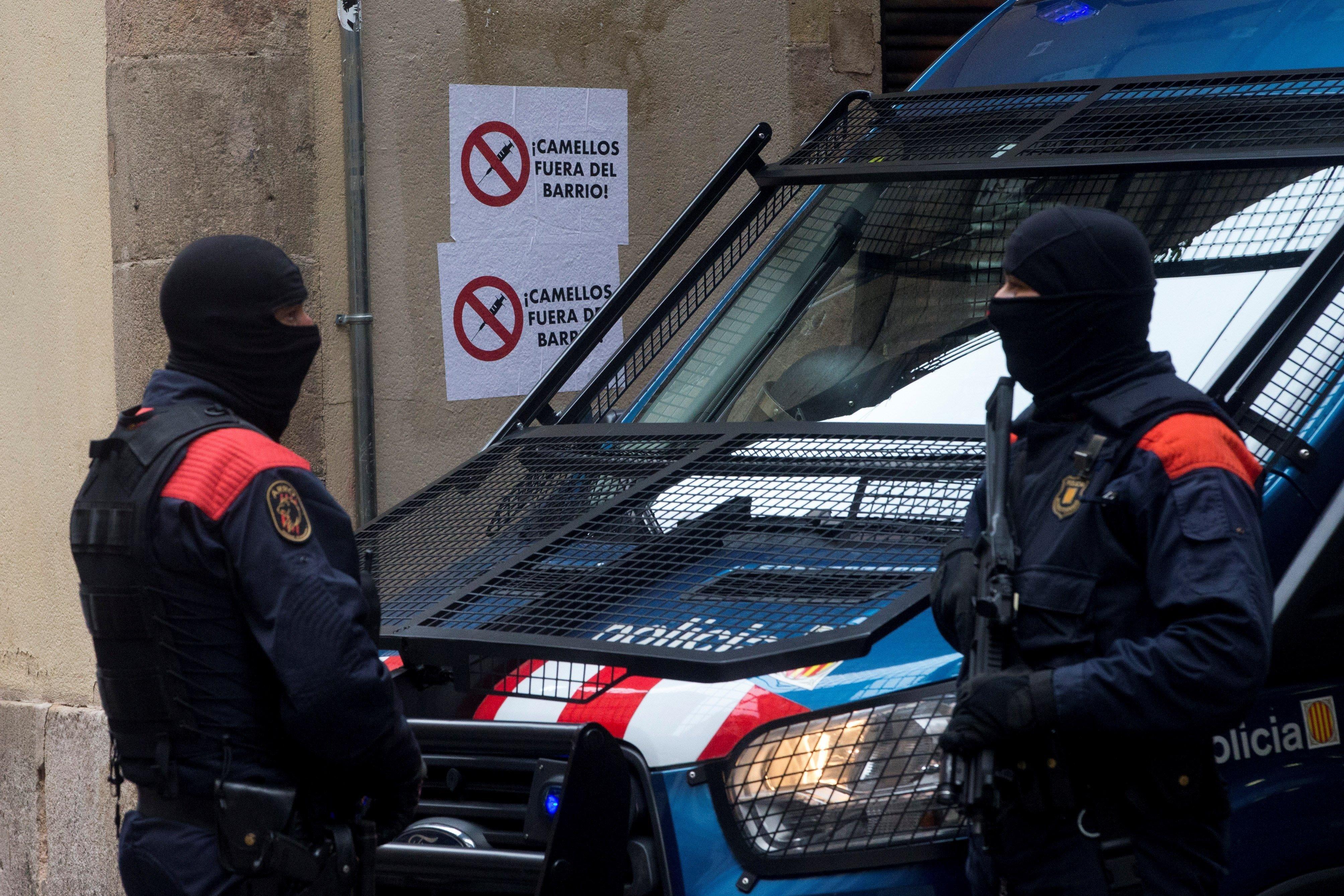 Mossos operació narcopisos Barcelona Efe