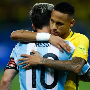 Neymar Messi EFE
